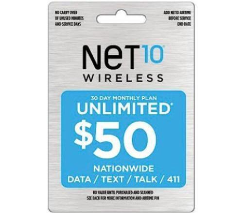 GENUINE NET10 $50 UNLIMITED 30 DAYS PLAN REFILL CARD