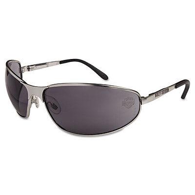 Harley-Davidson HD 500 Series Safety Glasses Matte Silver Frame Gray Hard Coat