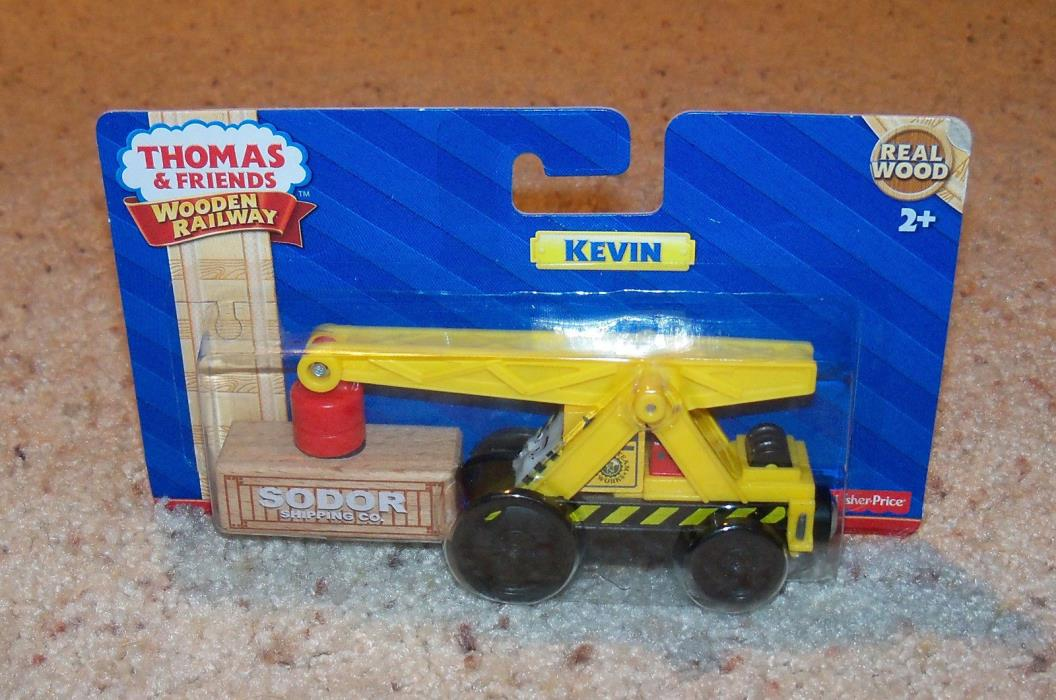 New In Box NIB Thomas Train Wood, Wooden Car, Kevin Cargo Crane Set
