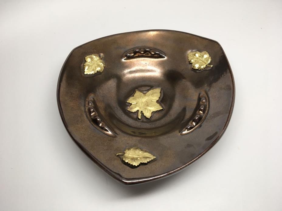 Large Mid Century Modern Art Pottery Bowl/Ashtray - Artist Signed - HAYDEN LEWIS