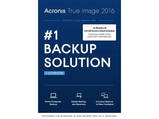 Acronis True Image 2016 w/ 250 GB Cloud Storage with FREE TRACKING