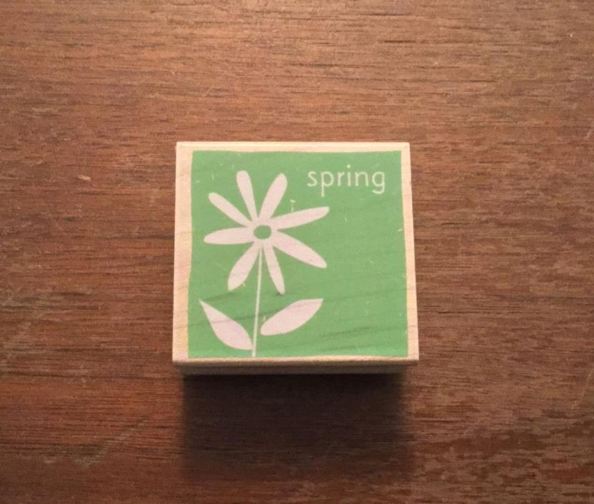 HERO ARTS SPRING FLOWER SEASON RUBBER MOUNTED STAMP WOOD MADE IN USA - NEW