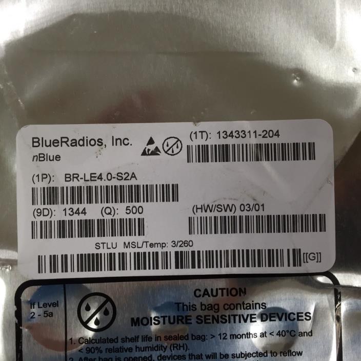 BR-LE4.0-S2A - BlueRadios RF TXRX MOD BLUETOOTH CHIP ANT
