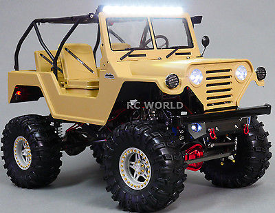 METAL Axial SCX10 RC Truck JEEP WRANGLER WARRIOR 2.2 Rock Crawler 4WD BRUSHLESS