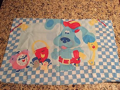 Blues Clues Pillowcase Vintage Fabric Material Crafts