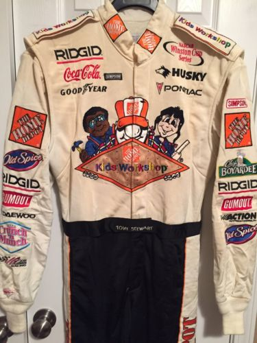 Tony Stewart Home Depot Kids Workshop Nascar Drivers Suit Firesuit