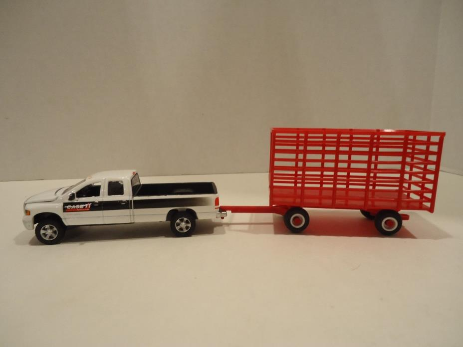 1/64 Ertl Farm Toy Custom Dodge Case Pickup Truck STANDI TOYS Hay Wagon ~NEW