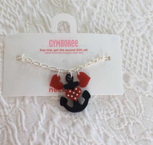 NWT Gymboree BON VOYAGE Necklace Anchor?? And Hearts ?