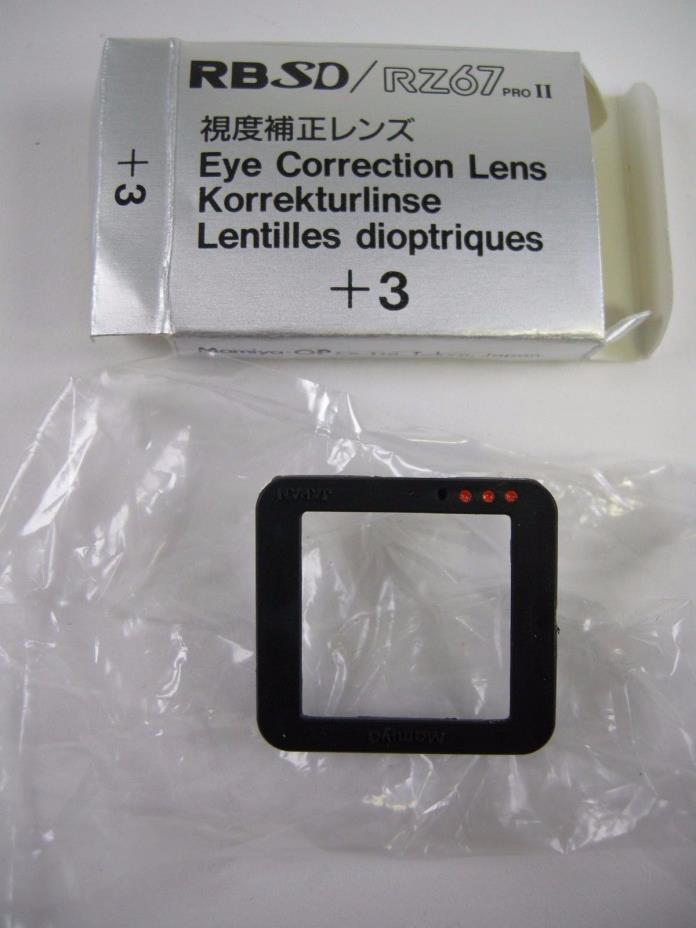 Mamiya RB/RZ Eye Correction +3 for Prism Finder 2 and AE Prism Finders