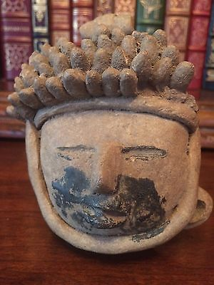 AUTHENTIC PRE-COLUMBIAN VERACRUZ HEAD  500 B.C. - 900 A.D.