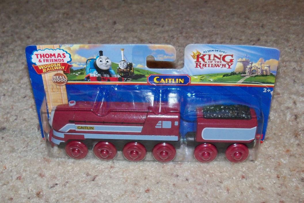 New In Box NIB Thomas Train Wood, Wooden Car Set, Caitlin