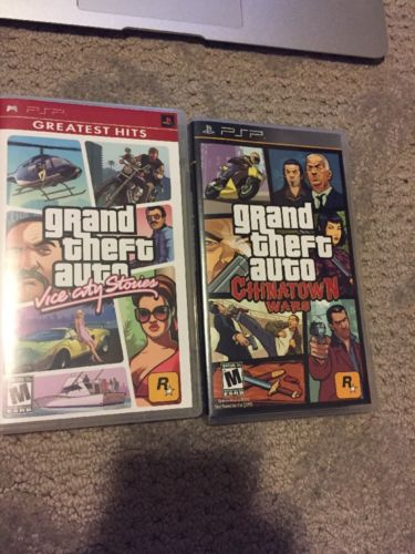 Grand Theft Auto: Chinatown Wars & Vice CIty (Sony PSP) NO GAME ! CASE ONLY