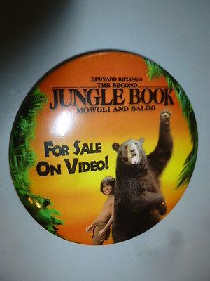 Second Jungle Book Pin Back Promo Video Button Rudyard Kipling Mowgli Baloo