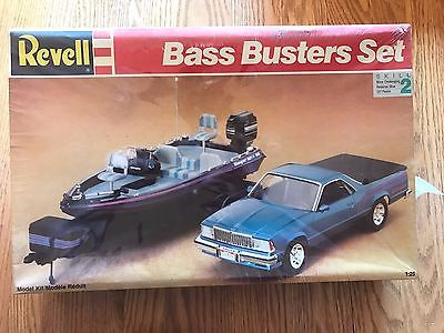 Revell Bass Busters Set 91 El Camino & Ranger Bass Boat W/Trailer Factory Sealed
