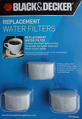 Replacement Water Filters for BLACK&DECKER 12-CUP COFFEEMAKER