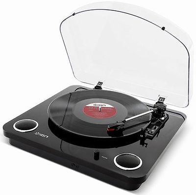 ION Audio Max LP | 3-Speed Belt Drive Turntable with Built-In Speakers