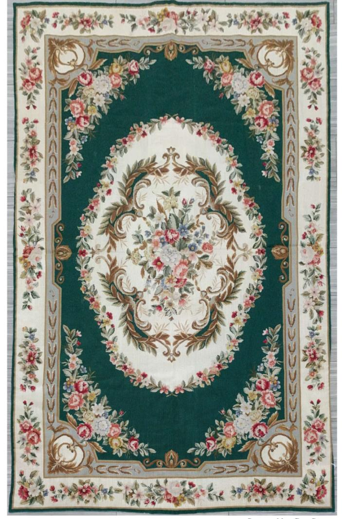 Very Unique  Hand Knotted China needle point Area Rug 5'7