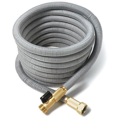 Silver All Expandable Garden Car Wash Water Hose Strongest Triple Core