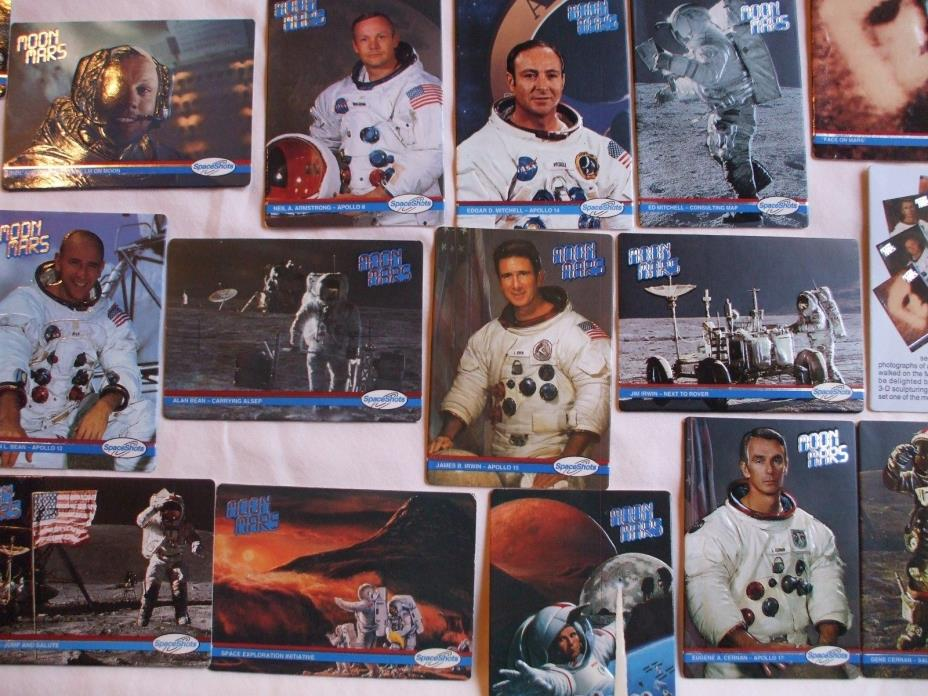 COLLECTABLE MOON MARS 3D CARD SET SHEPARD, ALDRIN, IRWIN ALL MOON ASTRONAUTS 36