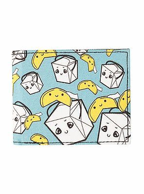 CHINESE TAKE OUT FOOD CARTON WALLET FORTUNE COOKIE KAWAII  SUPER CUTE FUN NEW