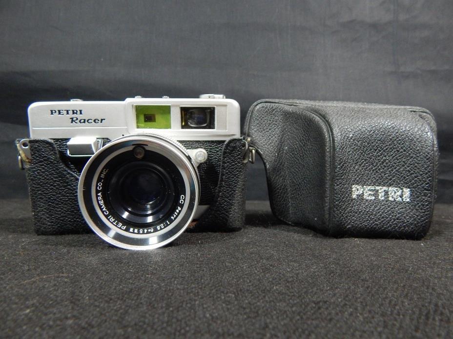 Petri Racer Rangefinder Camera & Lens WITH CASE VINTAGE CAMERA NICE