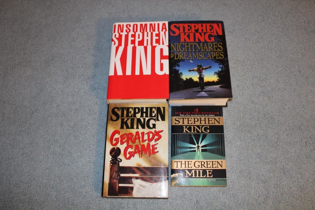 Lot of 4 HBDJ, 1pb. Stephen King books, Gerald's game, Insomnia, and more.