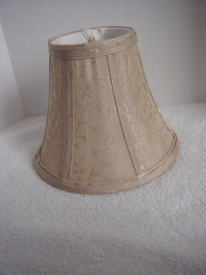 Light Tan Damask Clip On Mini Shade