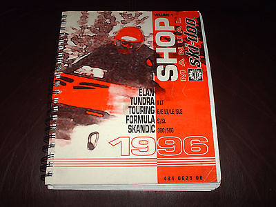 1996 SKI-DOO SHOP SERVICE MANUAL ELAN TUNDRA TOURING FORMULA SKANDIC 484 0628 00