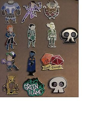 Acquisitions Incorporated Set 13/12 pins Includes Limited 13th pin Pinny Arcade