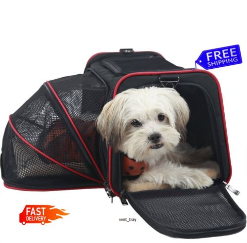 Expandable Foldable Washable Travel Pet Dog Cat Carrier Bag Airline Approved New