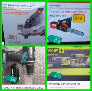 TOOLS - Chainsaw - Miter Saw - Drill and others!