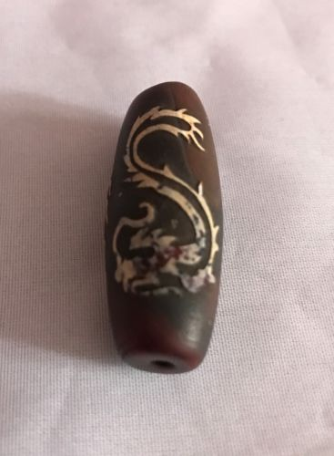 Rare Vintage Dragon Agate Bead