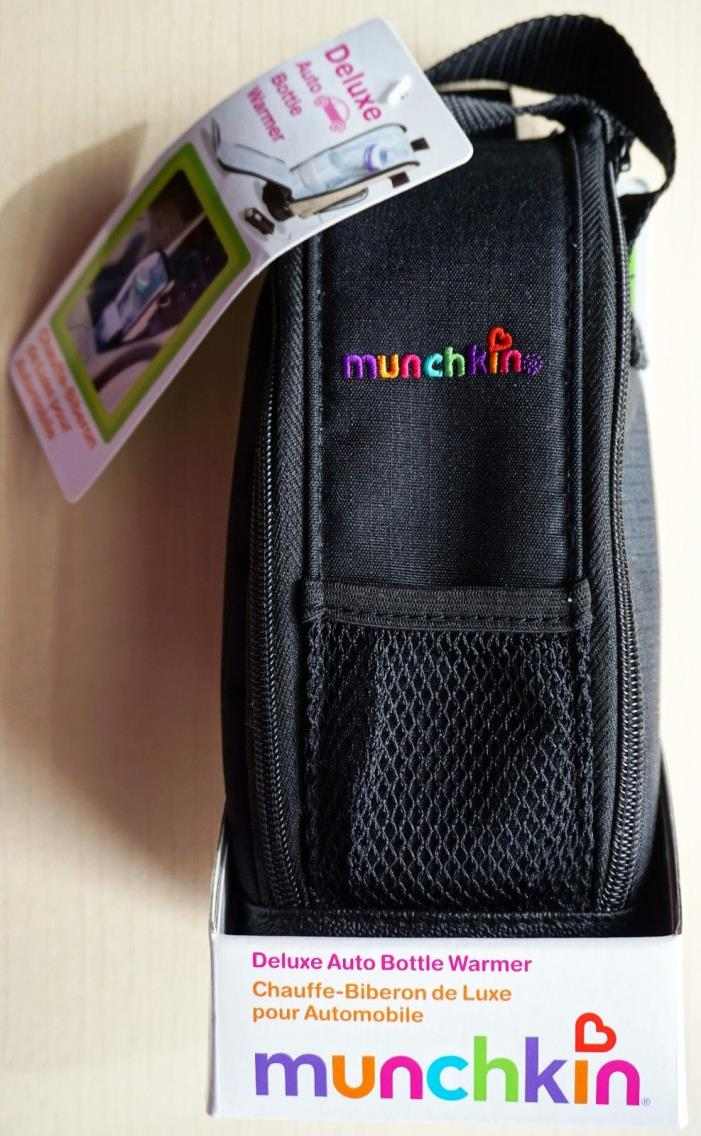 Deluxe Auto Baby Bottle Warmer Munchkin black insulated stroller strap car NEW
