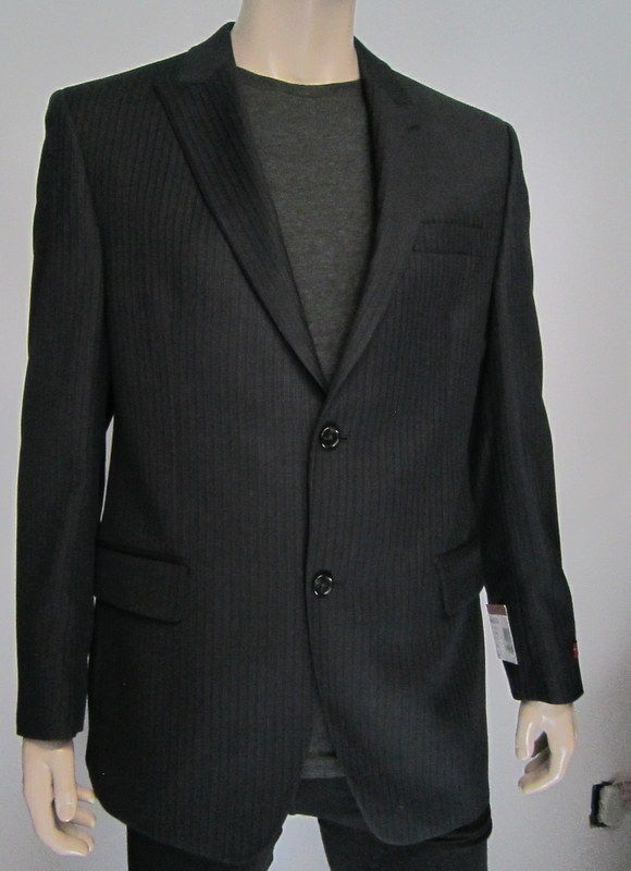NWTS*NEW*$360*ALFANI RED*CHARCOAL STRIPE*WOOL JACKET BLAZER SPORT COAT 42R