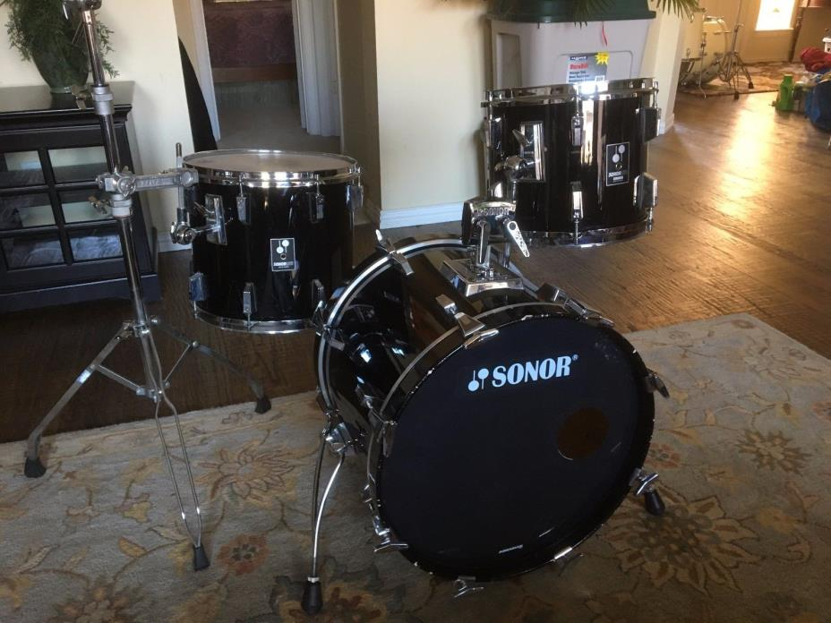 Black Sonor Lite Drum Set with 20-12-15 Bass Drum -  Scandinavian Birch!