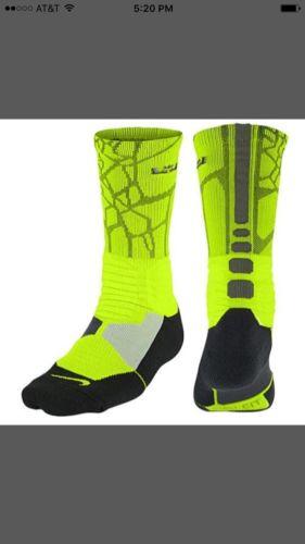 Nike Hyper Elite Socks Lebron James Basketball Men's Shoe Size 8-12 NWT 1 Pair