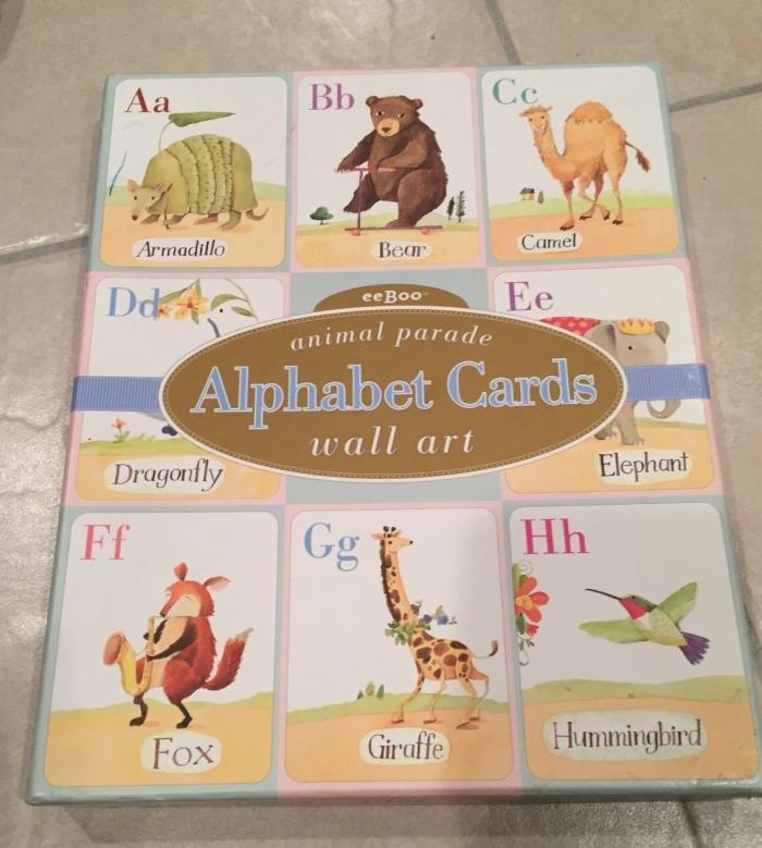 eeBoo Animal Parade art prints Alphabet cards Melissa Sweet complete set 2002
