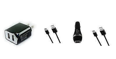 2.1A Car+Wall AC Charger+USB Cord fr Verizon Motorola Moto Z Force Droid XT1650M