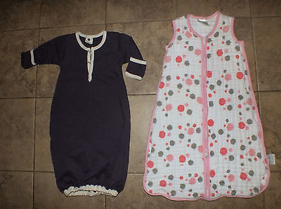 Aden & Anais Sleep Sack & Kate Quinn Organics size 0-6 months lot