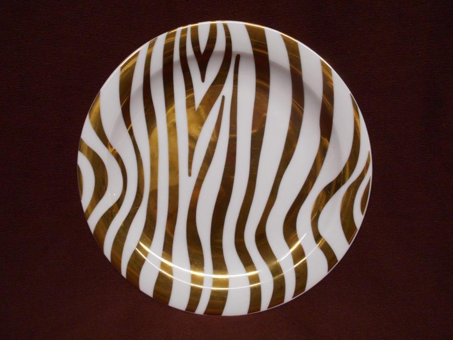 Glam White Zebra Tiger Stripe Decorative Plate Tirschenreuth Bavaria