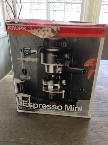 Krups Espresso Mini 4-cup Cappuccino maker 963 White Coffee Espresso