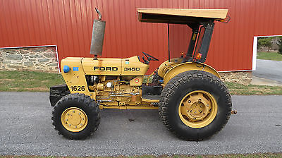 VERY NICE FORD NEW HOLLAND 345D 4X4 INDUSTRIAL UTILITY TRACTOR ONLY 735 HOURS!