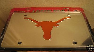 New University of Texas Longhorns RICO Lazer Tag Laser Cut License Plate mirror