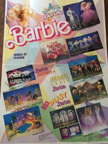 Vintage 1988 Barbie Poster