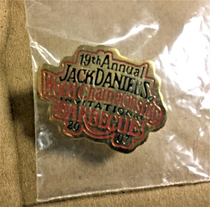 JACK DANIELS 19TH ANNUAL WORLD CHAMPIONSHIP BBQ PIN 2007