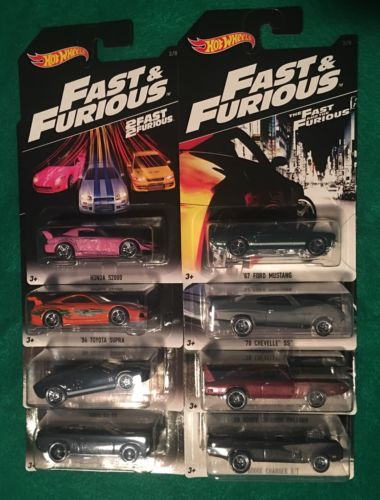 Hot Wheels 2016 Fast & Furious Full set x 8 New cars Ford Dodge Chevelle Honda