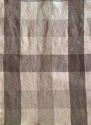 DESIGNERS GUILD Brera Quadretto Natural White Check Linen Remnant New