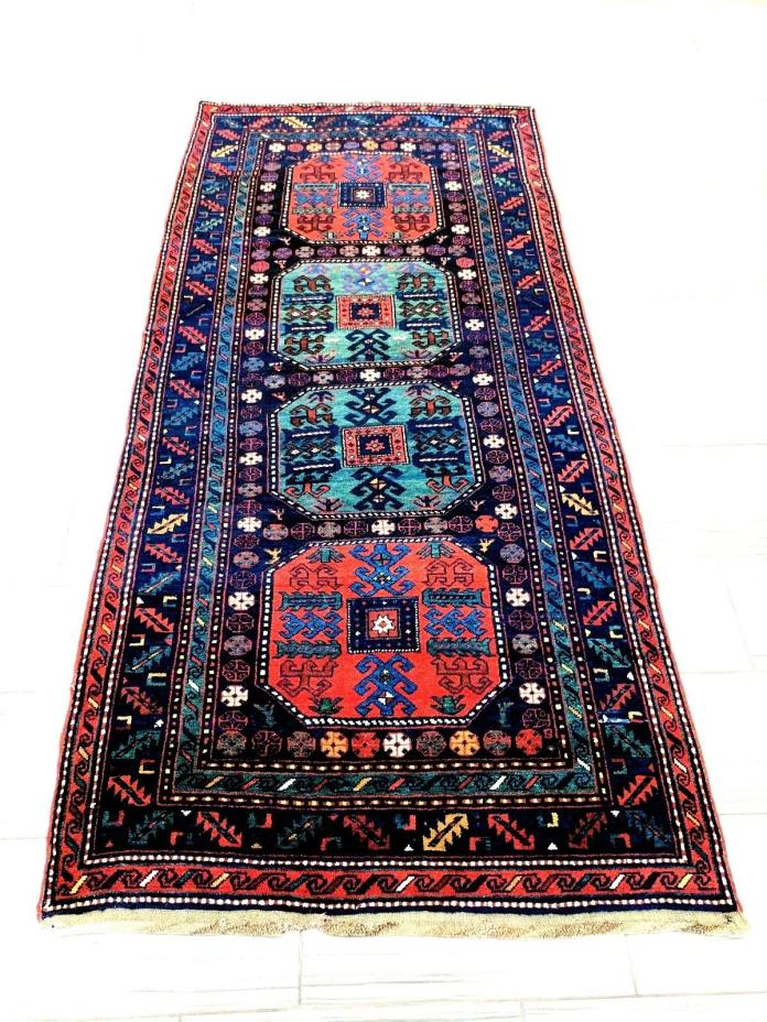 Very Unique Armenian, Persian, Turkish Hand Knotted Wool Area Rug 9'6