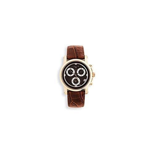 Cross Men's WMAQ51 Milan Chrono Quartz with Brown Leather Strap Maroon and Rose