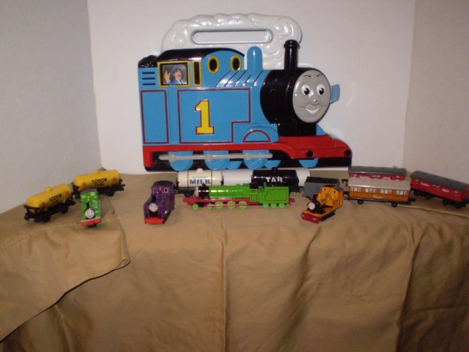 Thomas The Train  Carry Case and 12 Ertl Die Cast Train Cars